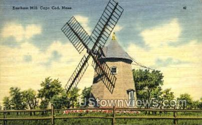 Eastham Mill - Cape Cod, Massachusetts MA Postcard