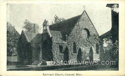 Episcopal Church - Concord, Massachusetts MA Postcard