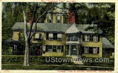 Home of Nathaniel Hawthorne - Concord, Massachusetts MA Postcard