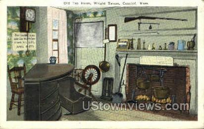 Old Tap Room, Wright Tavern - Concord, Massachusetts MA Postcard