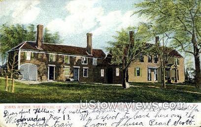 Jones House - Concord, Massachusetts MA Postcard