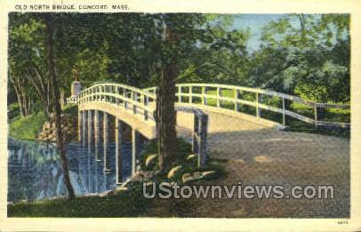Old North Bridge - Concord, Massachusetts MA Postcard