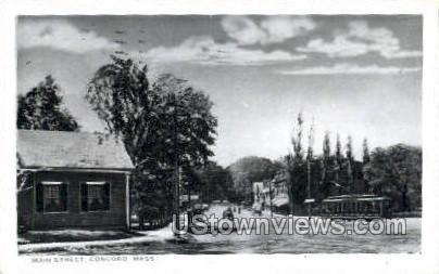 Reproduction - Main St. - Concord, Massachusetts MA Postcard