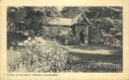 School of Philosophy - Concord, Massachusetts MA Postcard