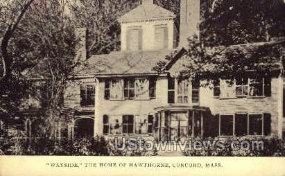 Home of Hawthorne - Concord, Massachusetts MA Postcard