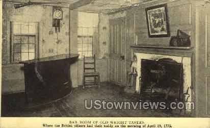 Bar Room, Old Wright Tavern - Concord, Massachusetts MA Postcard