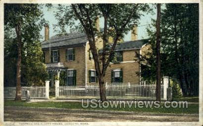 Thoreau & Alcott House - Concord, Massachusetts MA Postcard