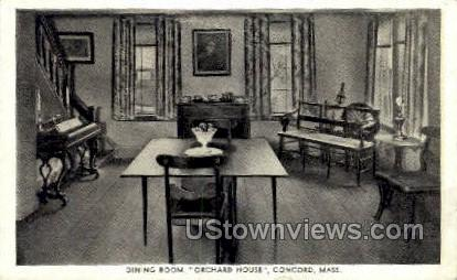 Dining Room, Orchard House - Concord, Massachusetts MA Postcard