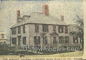 Wright Tavern - Concord, Massachusetts MA Postcard
