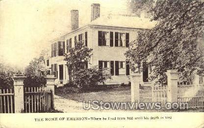 Home of Emerson - Concord, Massachusetts MA Postcard