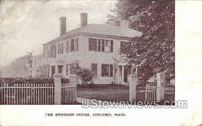 The Emerson House - Concord, Massachusetts MA Postcard