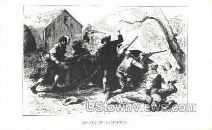 Battle of Lexington - Concord, Massachusetts MA Postcard
