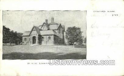 Public Library - Concord, Massachusetts MA Postcard