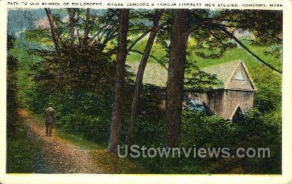 Path, Old School of Philosophy - Concord, Massachusetts MA Postcard