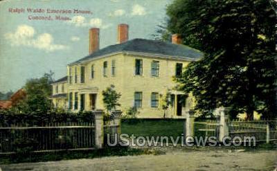 Ralph Waldo Emerson House - Concord, Massachusetts MA Postcard