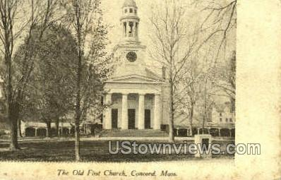 The Old First Church - Concord, Massachusetts MA Postcard