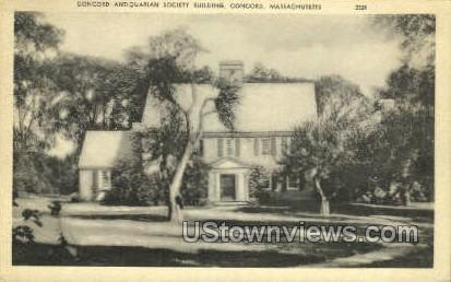Concord Antiquarian Society - Massachusetts MA Postcard
