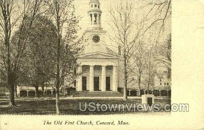 Old First Church - Concord, Massachusetts MA Postcard