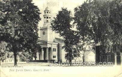 First Parish Church - Concord, Massachusetts MA Postcard