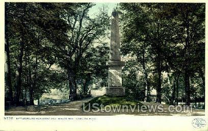 Battle Ground Monument - Concord, Massachusetts MA Postcard