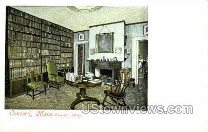 Emerson Study - Concord, Massachusetts MA Postcard