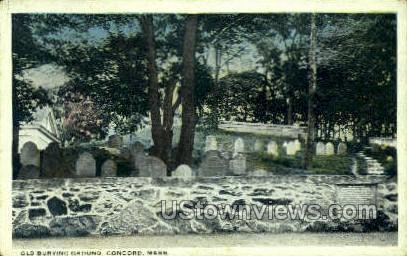 Old Burying Ground - Concord, Massachusetts MA Postcard