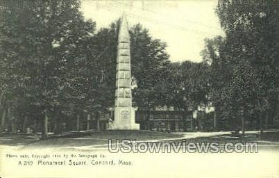Monument Square - Concord, Massachusetts MA Postcard