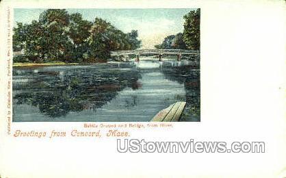 Battle Ground & Bridge - Concord, Massachusetts MA Postcard