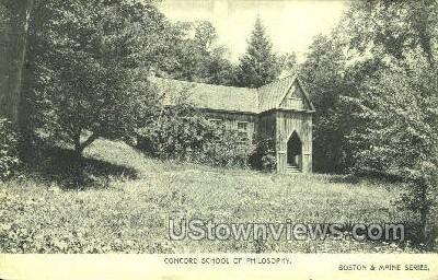 Concord School of Philosophy - Massachusetts MA Postcard