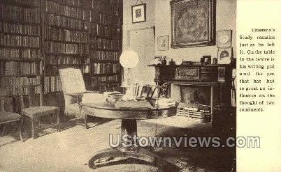 Emerson's Study, Emerson Home - Concord, Massachusetts MA Postcard