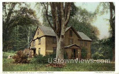 Home of Louisa M. Alcott - Concord, Massachusetts MA Postcard