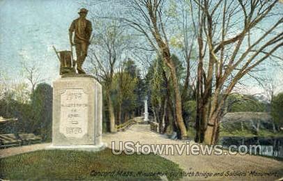 Minute Man, Old North Bridge - Concord, Massachusetts MA Postcard