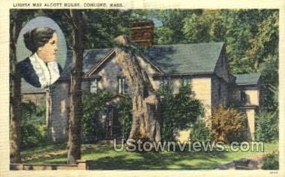 Louisa May Acott House - Concord, Massachusetts MA Postcard
