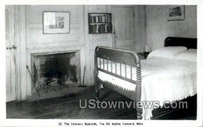 The Emerson Bedroom - Concord, Massachusetts MA Postcard