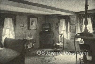 Louis May Alcott's Room - Concord, Massachusetts MA Postcard