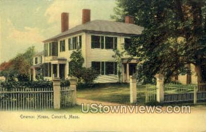 Emerson House - Concord, Massachusetts MA Postcard