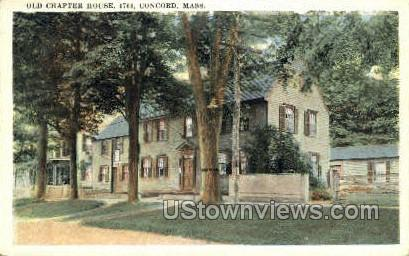 Old Chapter House - Concord, Massachusetts MA Postcard