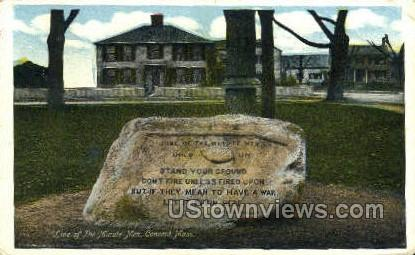 Line of the Minute Men - Concord, Massachusetts MA Postcard