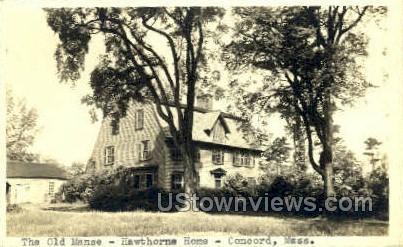 Old Manse - Concord, Massachusetts MA Postcard