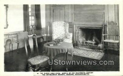 The Quen Anne Room - Concord, Massachusetts MA Postcard