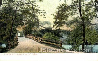 Concord Bridge - Massachusetts MA Postcard