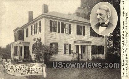 Home of Ralph Waldo Emerson - Concord, Massachusetts MA Postcard