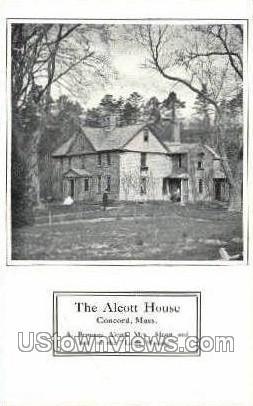Alcott House - Concord, Massachusetts MA Postcard