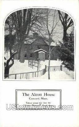 The Alcott House - Concord, Massachusetts MA Postcard