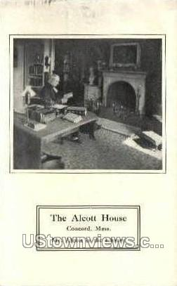 Library, The Alcott House - Concord, Massachusetts MA Postcard