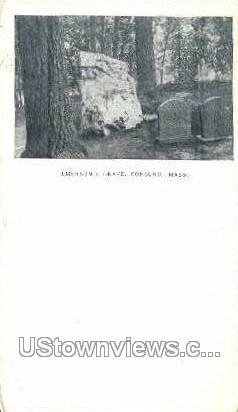 Emerson's Grave - Concord, Massachusetts MA Postcard