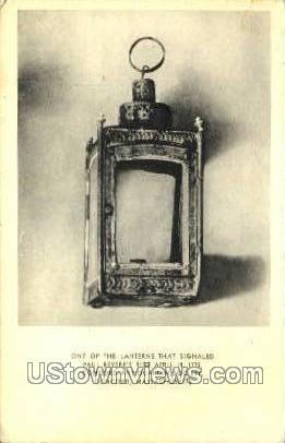 Lantern that Signaled Paul Revere - Concord, Massachusetts MA Postcard