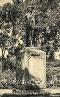 Minute Man, Battle Lawn - Concord, Massachusetts MA Postcard