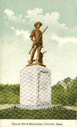 Minute Man - Concord, Massachusetts MA Postcard