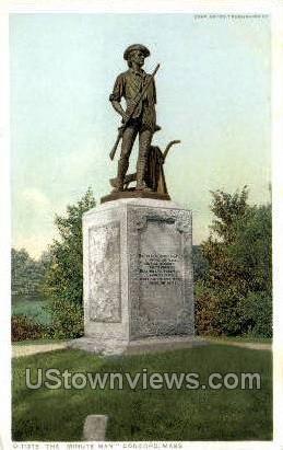 Minute Man Monument - Concord, Massachusetts MA Postcard